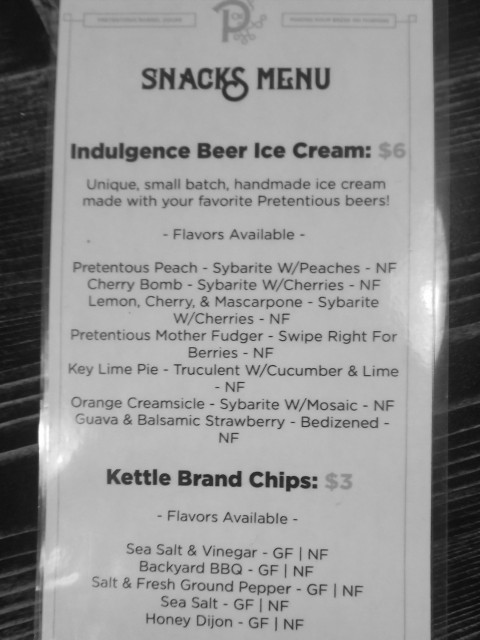 Pretentious Indulgence Ice Cream Flavors